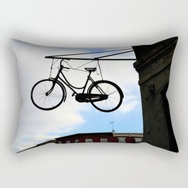 Suspended Bike Rectangular Pillow
