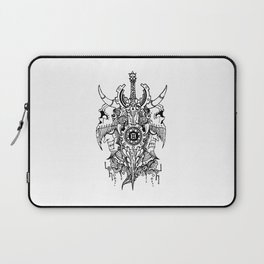 Gemini Skull Zodiac Sign For May and June Birth Day Gift Laptop Sleeve