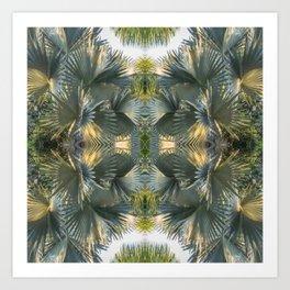 Leafy gray Art Print