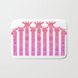 Giraffes – Pink Ombré Bath Mat