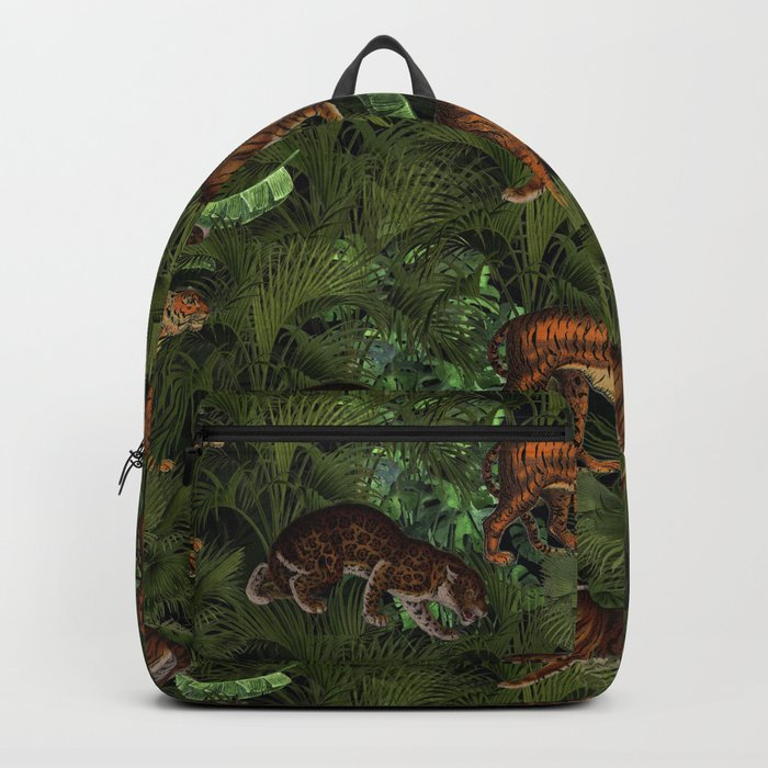 Vintage & Shabby Chic - Tigers in Palm Jungle Backpack