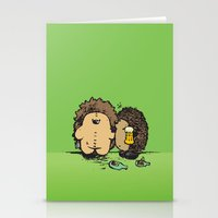 wasted rita Stationery Cards featuring Wasted by mangulica illustrations