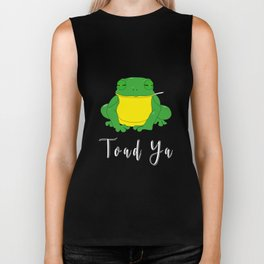 Toad Ya Funny Toad Frog Amphibian Biologist Medical Student Biker Tank