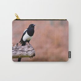 Magpie perched Carry-All Pouch
