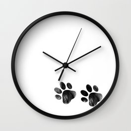Cat's footprints Wall Clock