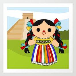 Maria 2 (Mexican Doll) Art Print