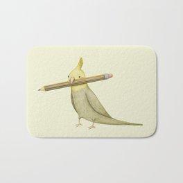 Cockatiel & Pencil Bath Mat