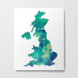 Green England Metal Print