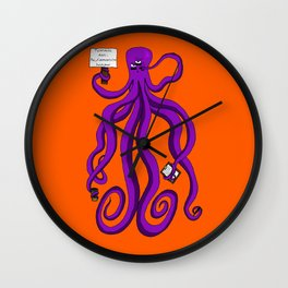 Protest octopus Wall Clock