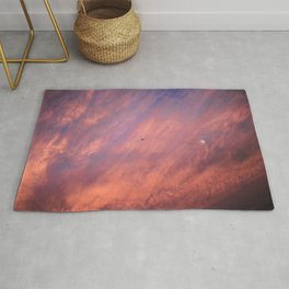 When a sunset meets the moon Rug