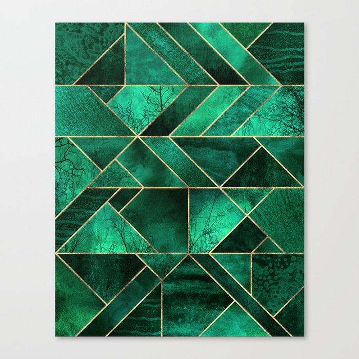 Abstract Nature - Emerald Green Leinwanddruck