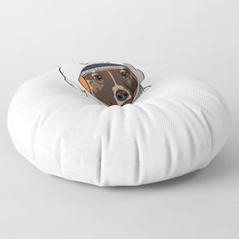 The first dog in space Laika Floor Pillow