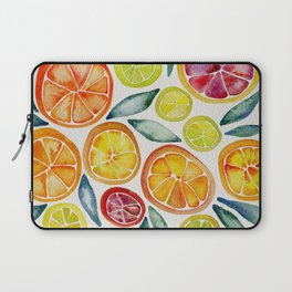 Sliced Citrus Watercolor Laptop Sleeve