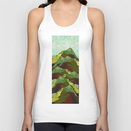 The Great, Great Night Mountain No. 9 Unisex Tank Top