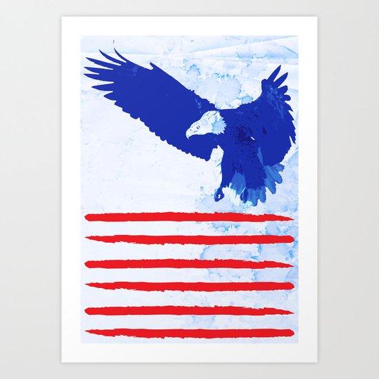 Flying The Flag Art Print