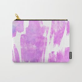Modern artistic pink white watercolor trendy brushstrokes Carry-All Pouch