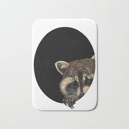 Socially Anxious Raccoon Bath Mat