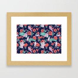 Gold-Bloom Framed Art Print