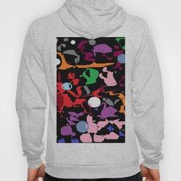 Black Multi Color Paint Splash Hoody