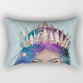Mermaid Galaxy hair Rectangular Pillow