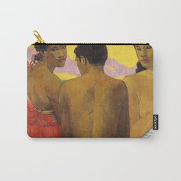Three Tahitians by Paul Gauguin Carry-All Pouch