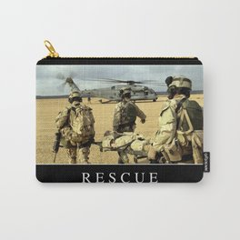 Rescue: Inspirational Quote and Motivational Poster Carry-All Pouch