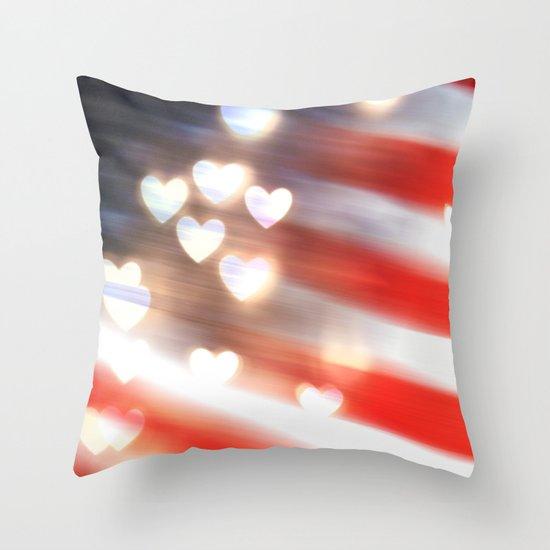 A Love as Big as America Throw Pillow