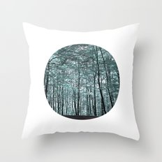 cold forest VI Throw Pillow