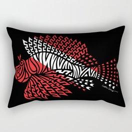 Tribal Scuba Flag Lionfish Rectangular Pillow