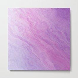 Pastel Purple Rose Marble Metal Print