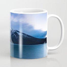 minnewanka lake canada mountains Coffee Mug