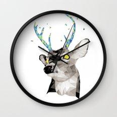 Geosafari | Deer (White) Wall Clock
