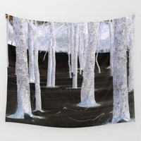 large Wall Tapestries featuring  White Faerie Forest by Nadia Bonello - Trū Artwear