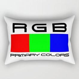 RGB. Primary colors. Rectangular Pillow
