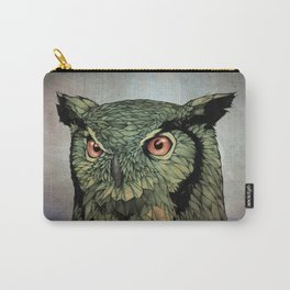 Owl - Red Eyes Carry-All Pouch