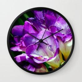 Royal Purple - The Prince Of Freesias Wall Clock