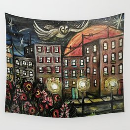 Night Watchman Wall Tapestry
