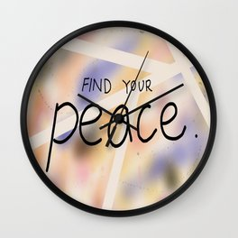 Find your Peace Wall Clock