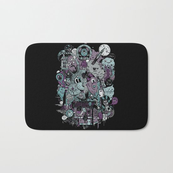 Supernature In The City Of Poison Syrup And Hope Candy Bath Mat
