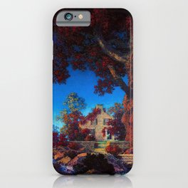 The Little Stone House under the Red Oak Tree by Maxfield Parrish iPhone Case