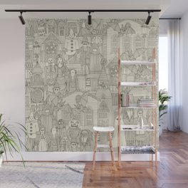 vintage halloween drab ivory Wall Mural