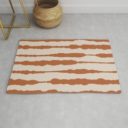Macrame Stripes in Clay and Light Putty Rug