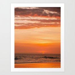 Sky on Fire | Tropical Beach Sunset on Bali, Indonesia Art Print