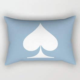 spade sign on placid blue background Rectangular Pillow