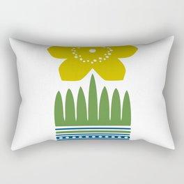 Nordic Yellow Flower Rectangular Pillow