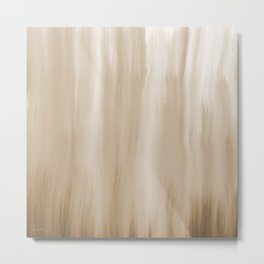 Cozy Brown 2 - Abstract Art Series Metal Print