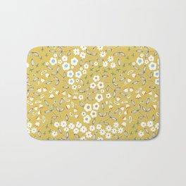 Ditsy Mustard Bath Mat