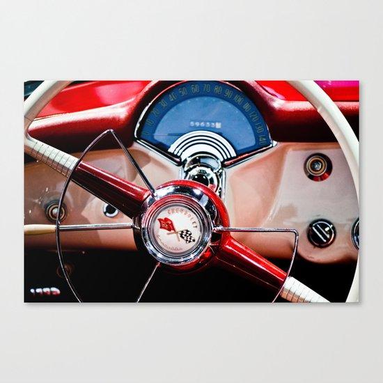 Behind the Wheel Canvas Print
