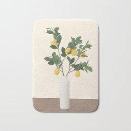 Lemon Branches II Bath Mat