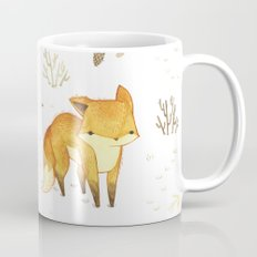 Lonely Winter Fox Mug